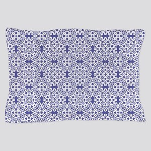 Blue Iris & White Lace 2 Pillow Case