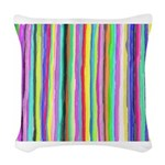 Drippy Trippy Rainbow Woven Throw Pillow