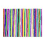 Drippy Trippy Rainbow 5'x7'Area Rug