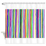 Drippy Trippy Rainbow Shower Curtain
