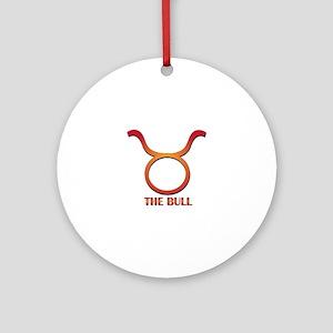 The Bull Ornament (Round)