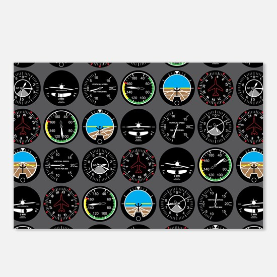 Flight Instruments Postcards (Package of 8)