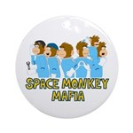 Space Monkey Mafia Ornament (Round)