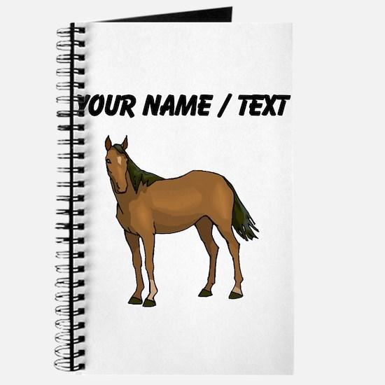 Custom Brown Horse Journal