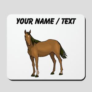 Custom Brown Horse Mousepad