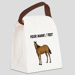 Custom Brown Horse Canvas Lunch Bag
