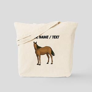 Custom Brown Horse Tote Bag