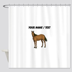 Custom Brown Horse Shower Curtain