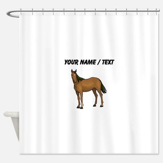 Custom Brown Horse Shower Curtain