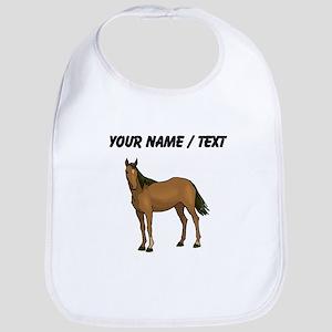 Custom Brown Horse Bib