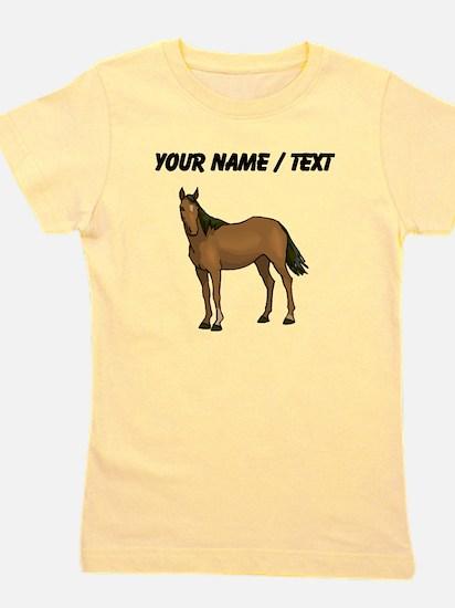 Custom Brown Horse Girl's Tee