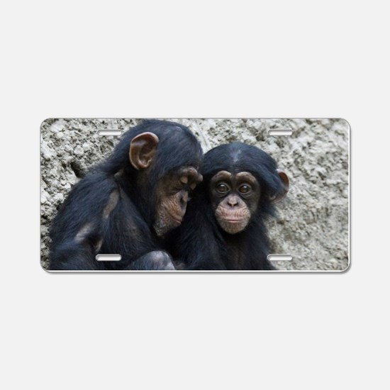 Chimpanzee002 Aluminum License Plate