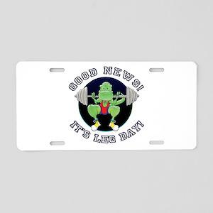 T-Rex. Good News Leg Day! Aluminum License Plate