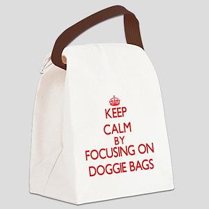Keep Calm by focusing on Doggie B Canvas Lunch Bag