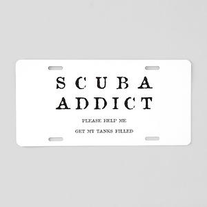 Scuba Addict Funny Aluminum License Plate