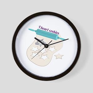 I Heart Cookies Wall Clock