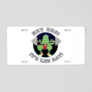 T-Rex. Leg Day! Aluminum License Plate