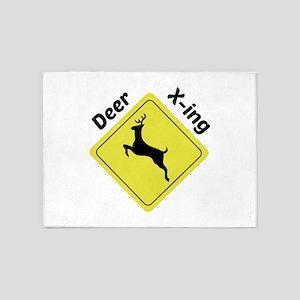 Deer X-ing 5'x7'Area Rug