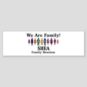 SHEA reunion (we are family) Bumper Sticker