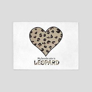Favorite Color Is Leopard 5'x7'Area Rug