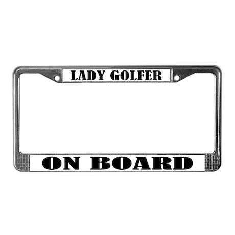 Lady Golfer License Plate Frame