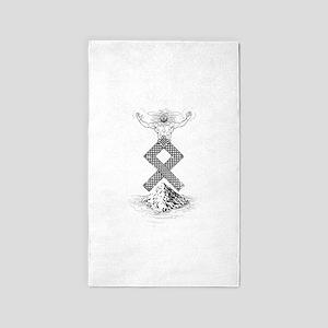 Odal Rune Odin Area Rug