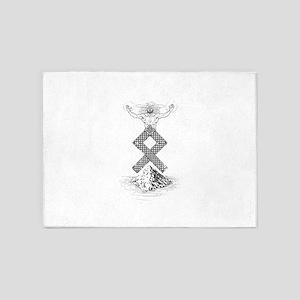Odal Rune Odin 5'x7'Area Rug