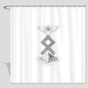 Odal Rune Odin Shower Curtain
