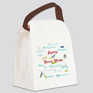Agility Swear Words Canvas Lunch Bag