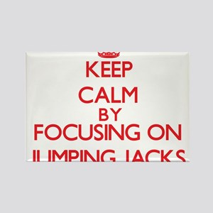 Keep Calm by focusing on Jumping Jacks Magnets