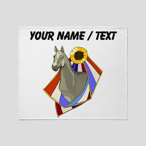 Custom Champion Horse Throw Blanket