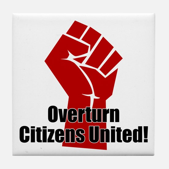 Citizens United Tile Coaster