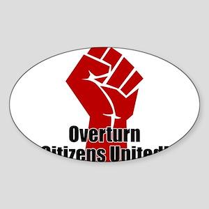 Citizens United Sticker (Oval)