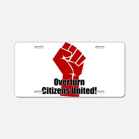 Citizens United Aluminum License Plate