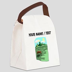 Custom Horse Grazing Canvas Lunch Bag