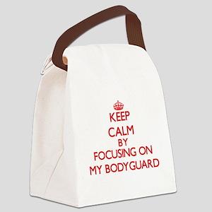 Keep Calm by focusing on My Bodyg Canvas Lunch Bag