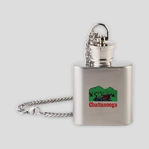 Chatanogga train Flask Necklace