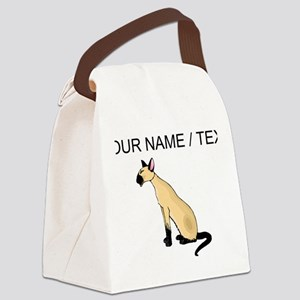 Custom Siamese Cat Canvas Lunch Bag