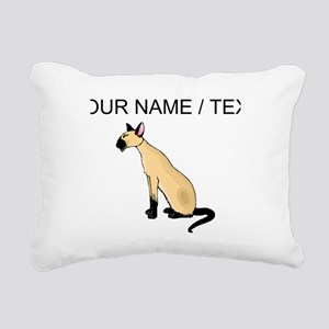 Custom Siamese Cat Rectangular Canvas Pillow