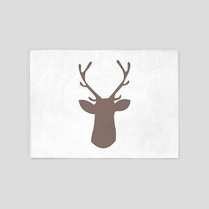Deer Head 5'x7'Area Rug
