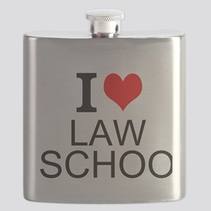 I Love Law School Flask