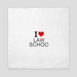 I Love Law School Queen Duvet