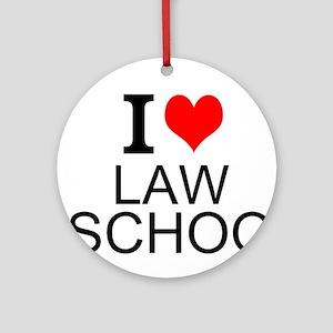 I Love Law School Ornament (Round)