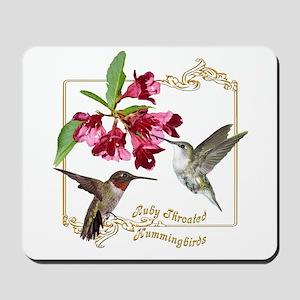 Hummingbird Pair Mousepad