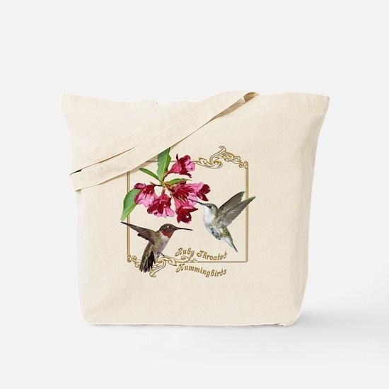 Hummingbird Pair Tote Bag