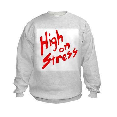 High on Stress Kids Sweatshirt