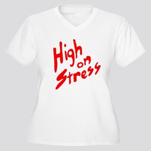 High on Stress Women's Plus Size V-Neck T-Shirt