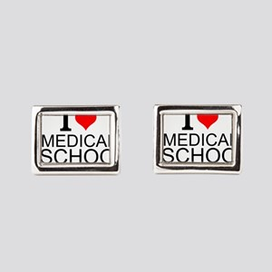 I Love Medical School Rectangular Cufflinks