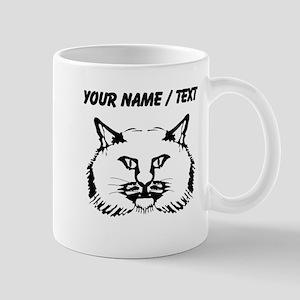 Custom Cat Face Drawing Mugs