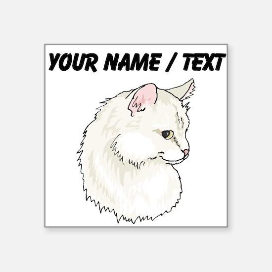 Custom White Cat Sticker